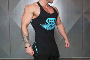 Body Engineers - XA1 Stringer – Black & Sky Blue - Seitlich