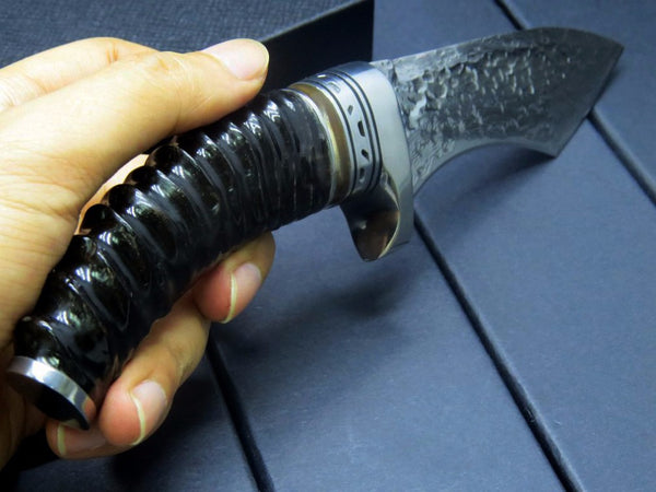 Eafengrow EF92 Mongolian Gazelle's Handle + Damascus steel blade fixed Knives huting camping Survival Knife outdoor tool knife