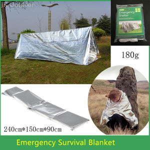 SOS Hunting Shelter Emergency Blanket Outdoor Camping Climbing Equipment Travel Kit Survival Tool Tent Survival Gear Terbuka