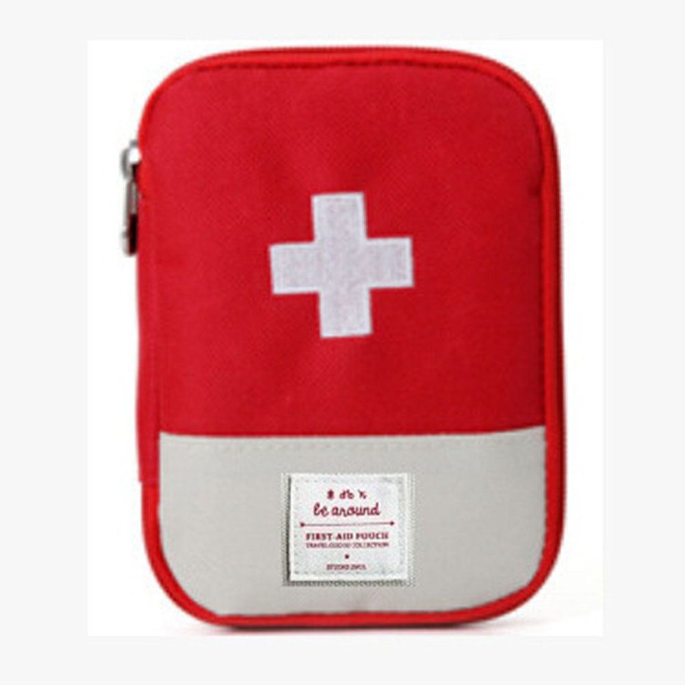 RED Outdoor First Aid Emergency Medical Kit Survival bag Wrap Gear Hunt Travel Bag small medicine kit 15*10.5CM