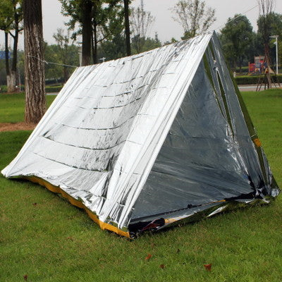 Argent Emergency Shelter Tent Outdoor Ultralight Portable Camping SOS Shelter Mylar Emergency Tube Tent First Aid Gear