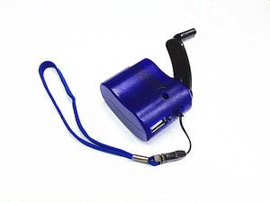 Emergency Power Bank USB Hand Crank SOS Phone Charger Camping Survival Gear Kit