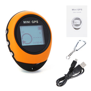 PG03 MINI GPS Universal Keychain GPS Navigation Outdoor Handheld Location Finder USB Rechargeable with Compass for Travel Camp