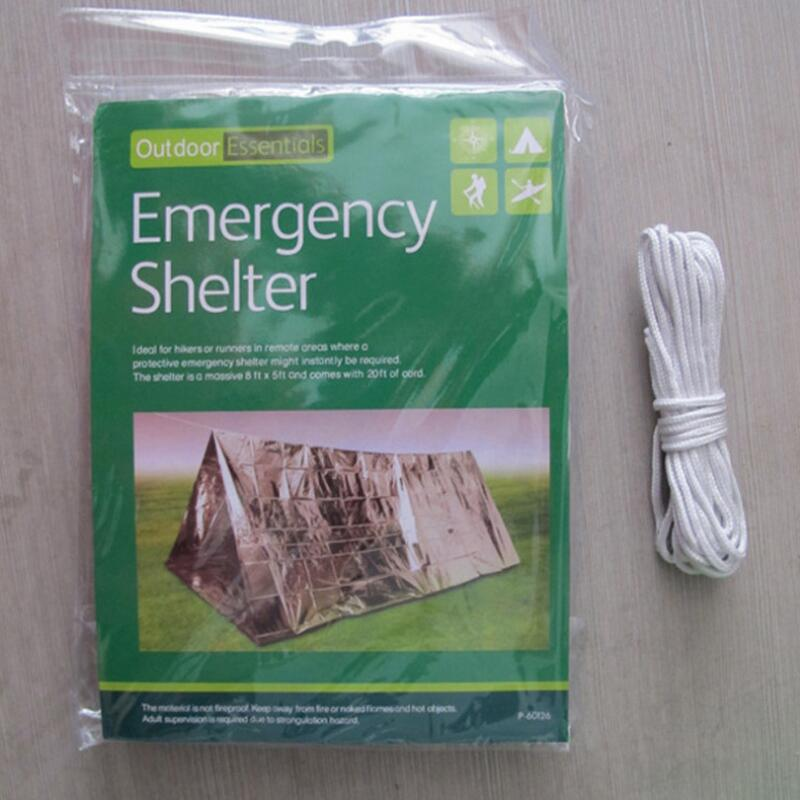 Emergency Blanket Waterproof 240*150cm Travel Kit Survival Tool Outdoor Camping Climbing Equipment curtain Tent Gear
