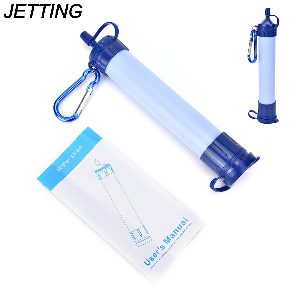 JETTING 1pc outdoor sport camping emergency survival tool water filter system with 2000 Liters filtration capacity