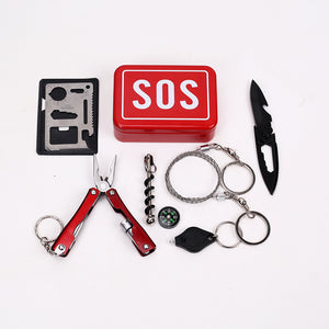 Emergency Equipment SOS Kit Car Earthquake Emergency Supplies SOS Outdoor Camping Survival Tool Survival Gear