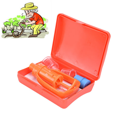 1Pc Outdoor Camping Survivor Venom Extractor Kit Safe First Aid Kit Safety Venom Protector Snake bees Bite Venom Extractor