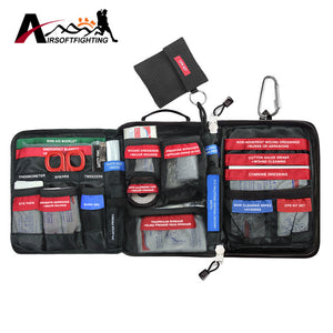 96pcs/pack Molle First Aid Kit 3 Layers Medical Bag Outdoor Wilderness Survival Travel Emergency Rescue Handy Bag Treatment Pack