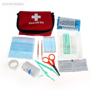 Safe Outdoor Wilderness Emergency Survival First Aid Kit Pack Travel Camping Hiking Medical Sports Home Bag Treatment Pack Set