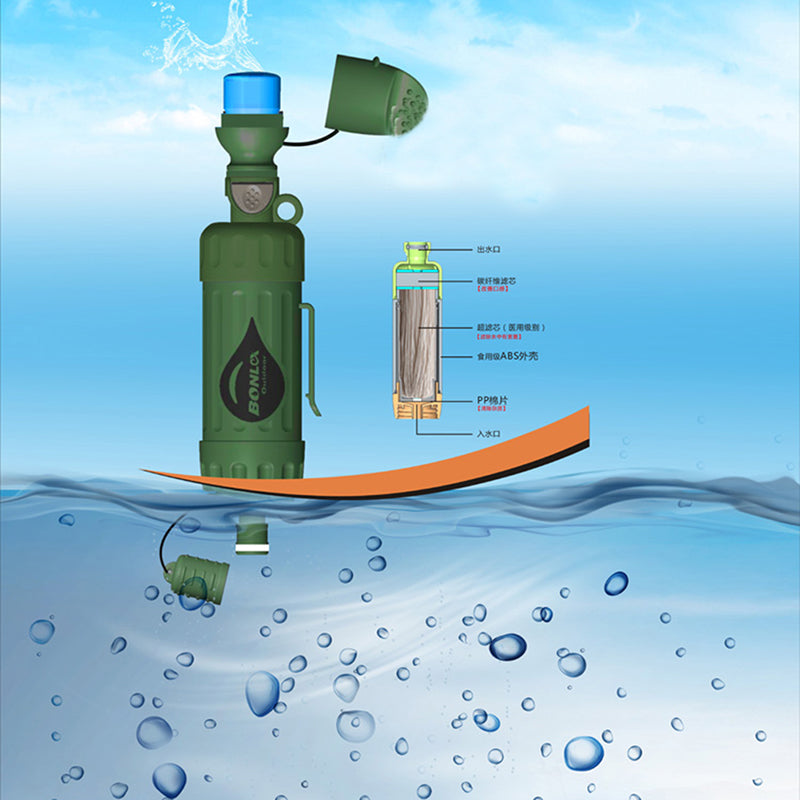 Outdoor Clean Water System With Filtration Capacity For Outdoor Camping Emergency Survival Tool