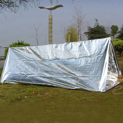 Outdoor Emergency First Aid Tent Reflective Film Wigwam Camping Trekking Tool S06_15