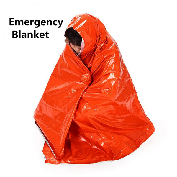 2PCS 210*130CM Reusable Thicken Warming Emergency Blanket First Aid Survival Kits Rescue Outdoor Camp Tent Hike Life-saving Tool