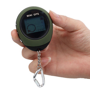 Keychain Mini Handheld GPS Navigation USB Rechargeable Location Tracker Portable Travel Compass For Climbing Outdoor Activity