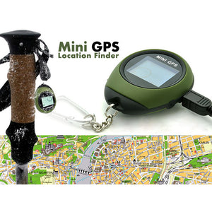 Mini Keychain GPS Tracker Handheld Location Finder Small Pocket GPS Tracking System Pathfinding Kits for Camping Hiking