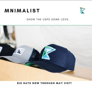 Save the USPS!  And Save $ on a MNIMALIST Hat While You're At It.
