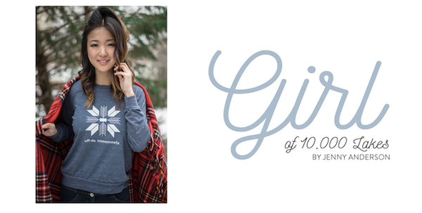 MNIMALIST, Girl of 10,000 lakes collaboration.  Minnesota clothing.