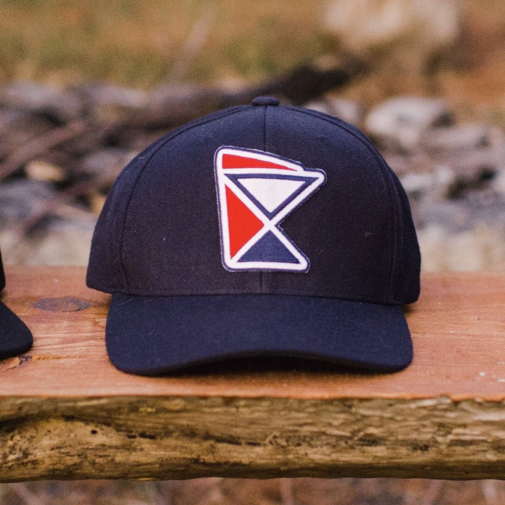 """La Bomba."" Navy Premium SnapBack with TC Red & Navy patch"