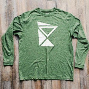 MNIMALIST Green Sustainable Long Sleeve with White State Logo