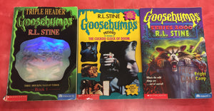 Goosebumps R. L. Stine Scary Book LOT 3