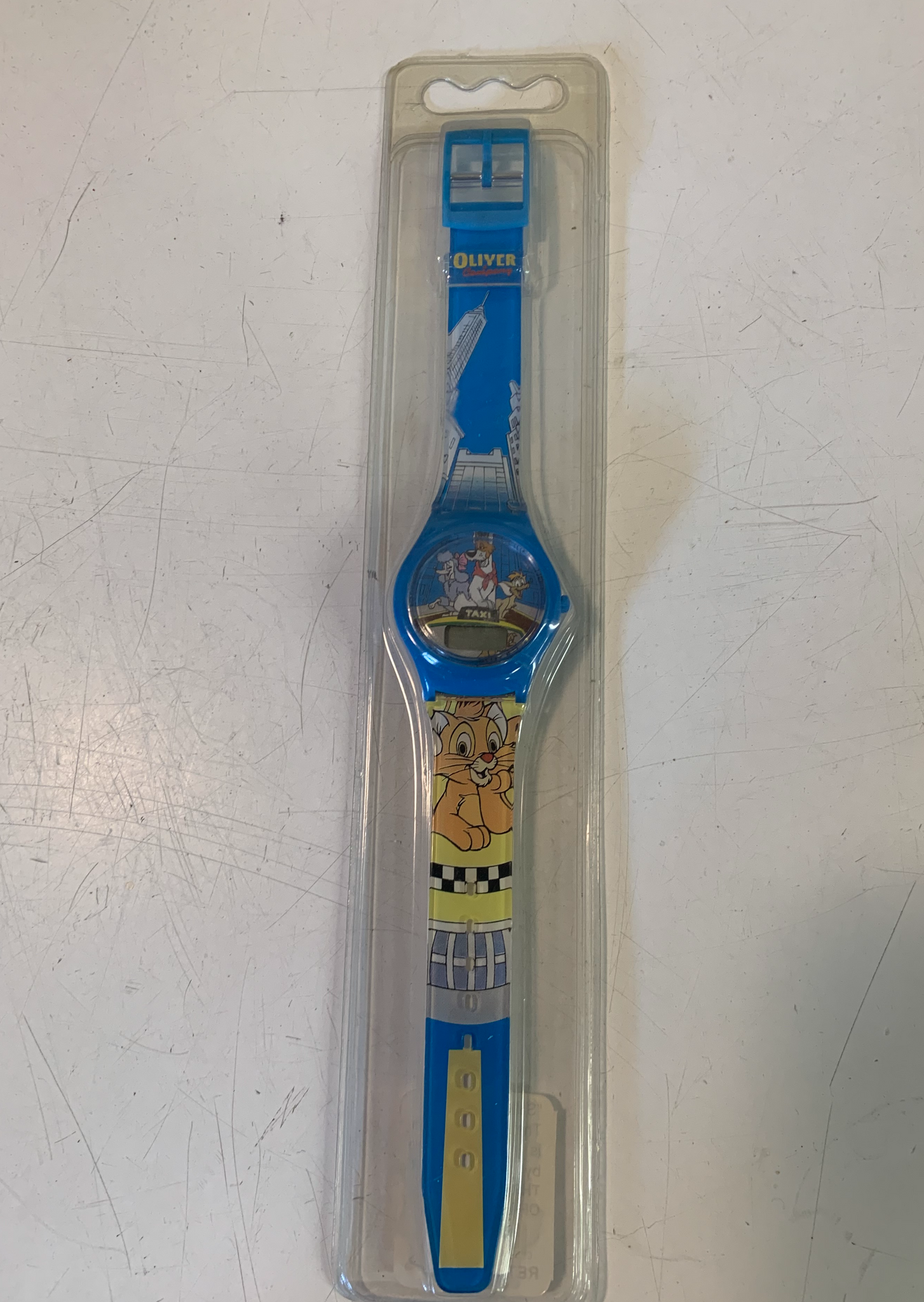 Vintage Walt Disney's Oliver & Company Taxi Digital Watch NOS Sealed
