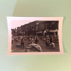 Vintage Mid Century B&W Photo Holland Michigan Tulip Festival Parade of Strollers