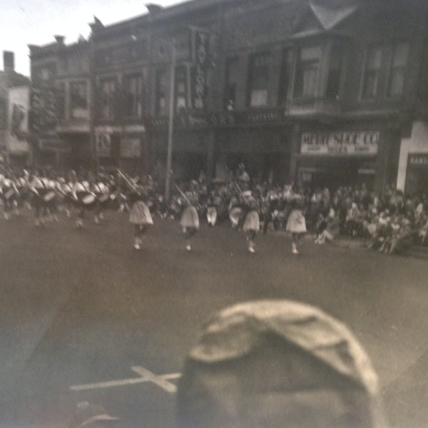 Vintage Mid Century B&W Photo Holland Michigan Tulip Festival Drum Corps Majorettes
