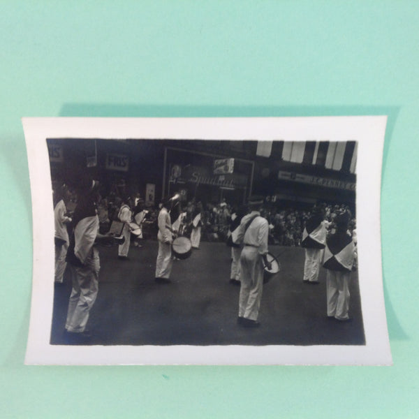 Vintage Mid Century B&W Photo Holland Michigan Tulip Festival Among the Drum Corps