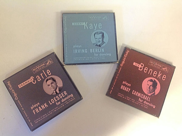 Vintage RCA Victor Dance Band Series 45 Records Three-Piece Set