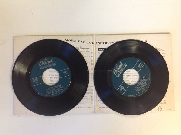 Vintage Jackie Gleason Presents Music for Lovers Only 2-Piece 45 Record Set