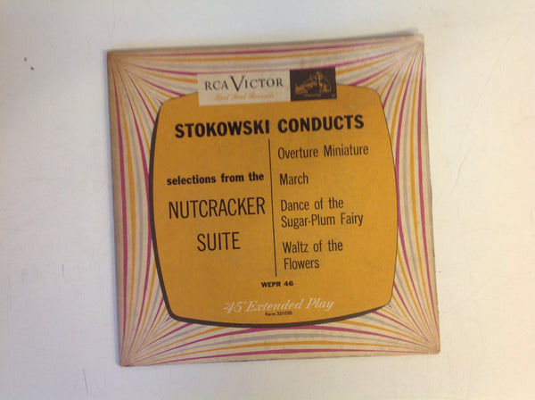Vintage Stokowski Conducts Selections from the Nutcracker Suite 45 Record 2-Piece Set