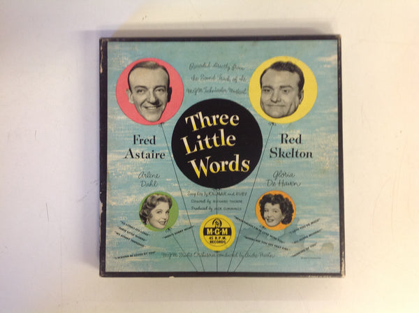 "Vintage MGM 45 Box Set ""Three Little Words"" w/Fred Astaire, Red Skelton, Arlene Dahl Gloria De Haven"