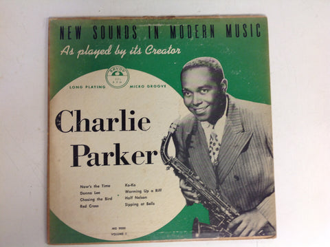 Vintage Charlie Parker Savoy Records 33 1/3 LP New Sounds In Modern Music
