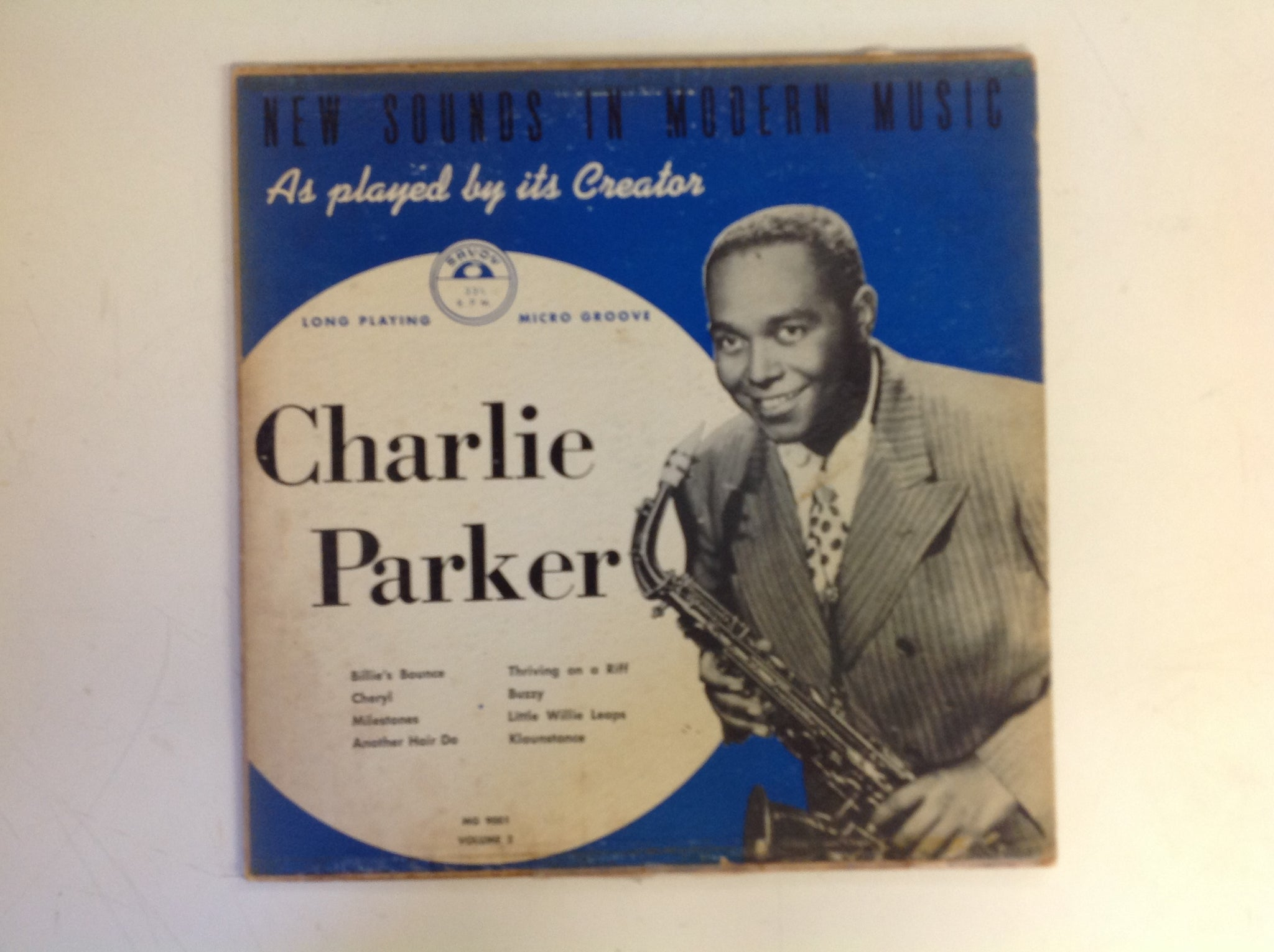 Vintage Charlie Parker Savoy Records Micro Groove LP New Sounds in Modern Music Vol 2 MG-9001
