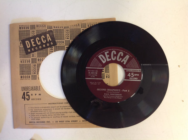 Vintage 1949 DECCA Records Paul Whiteman Orchestra Plays George Gershwin 45 RPM Box Set