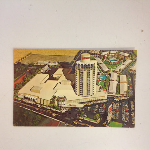 Vintage 1967 Souvenir Color Postcard The Sands Hotel and Casino Gleaming New Tower Las Vegas Nevada
