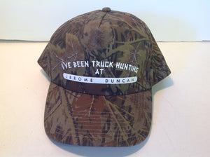 "Toppers Camouflage Baseball Cap ""I've Been Truck Hunting at Jerome Duncan"" Dealership Novelty"