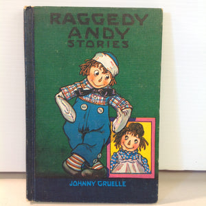Vintage 1960 Bobbs-Merrill Hardcover Book Raggedy Andy Stories by Johnny Gruelle