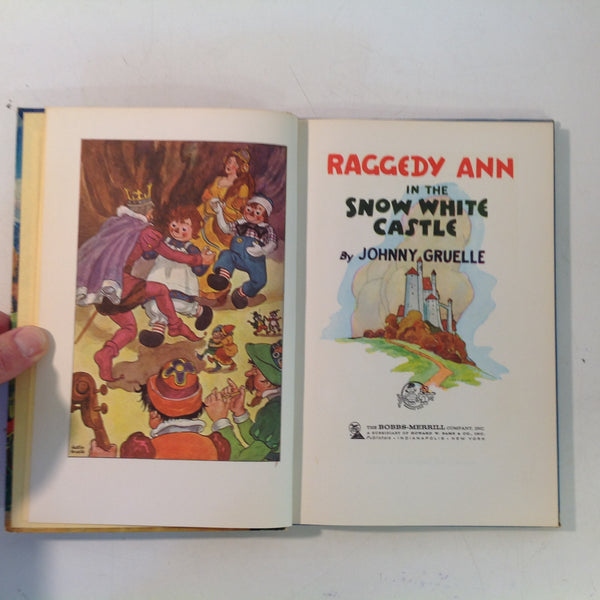 Vintage 1960 Bobbs-Merrill Hardcover Book Raggedy Ann in the Snow White Castle by Johnny Gruelle