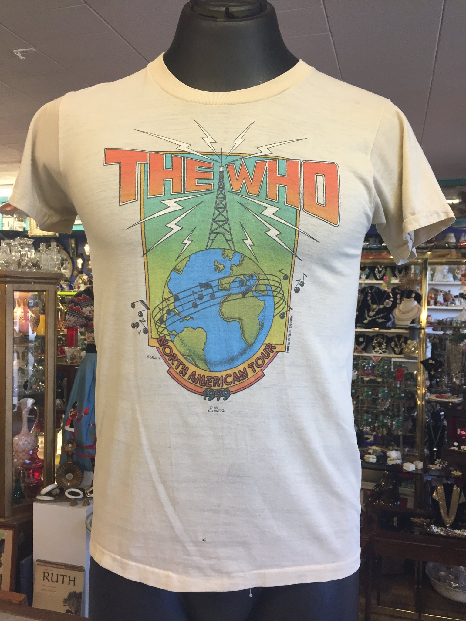 Vintage 1979 THE WHO North American Tour Concert Shirt Music Rock