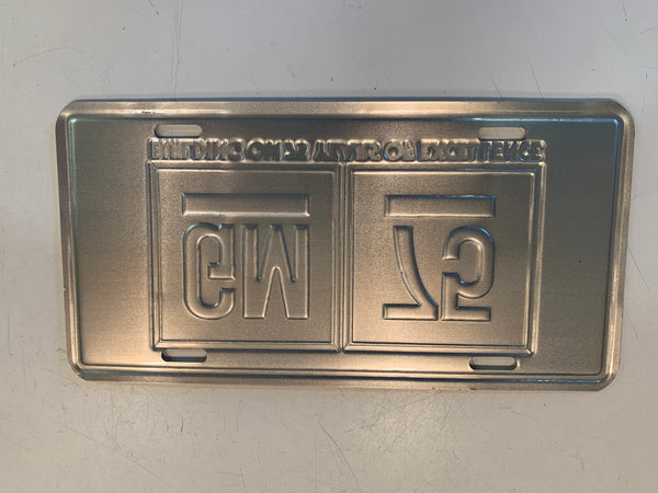 Vintage 1983 GM 75 Year Anniversary License Plate General Motors Excellence Auto