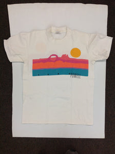 Vintage Stedman Super Hi-Cru Men's Medium (38-40) White Short Sleeve Souvenir T-Shirt Pastel Sunset Lake Powell Utah Arizona