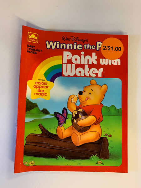 Vintage 1990 Golden Books Walt Disney's Winnie the Pooh Paint-With-Water Activity Book