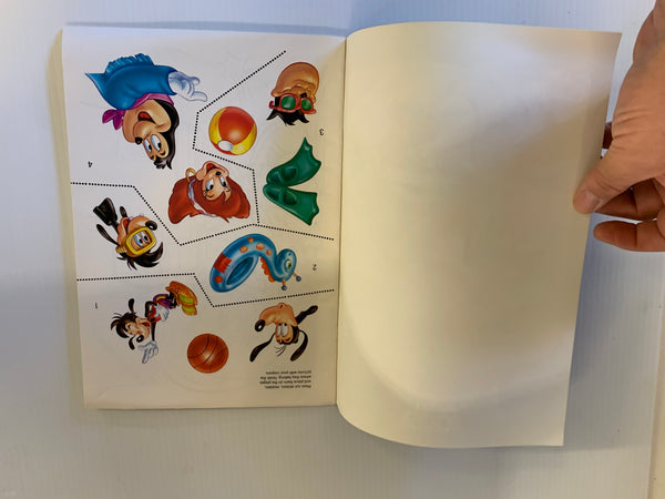Vintage 1992 Golden Books Disney's Goof Troop Sticker Fun Activity Book