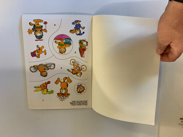 Vintage 1990 Golden Books Garfield Sticker Fun Activity Book
