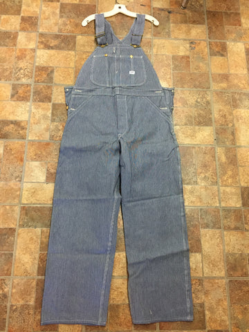 Vintage 1960's NOS Lee Denim Work Overall Hickory Stripe Union Made Sanforized NWT (New with Tags)