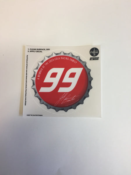 Cool 2001 NASCAR #99 Jeff Burton Coca Cola Stickers NOS Decal