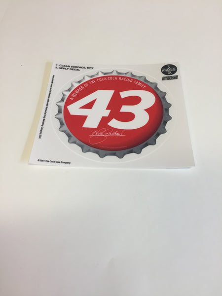Cool 2001 NASCAR #43 John Andretti Coca Cola Stickers NOS Decal