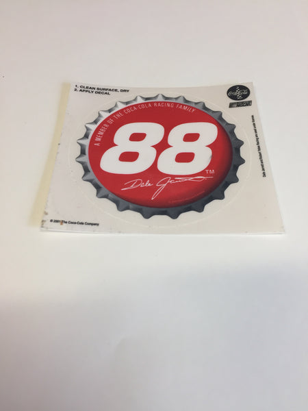 Cool 2001 NASCAR #88 Dale Jarrett Coca Cola Stickers NOS Decal