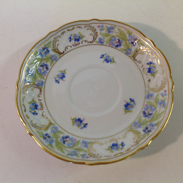 Vintage 3 Piece Porcelain Teacup Saucer Plate Set Schumann Forget Me Not Pattern Bavaria