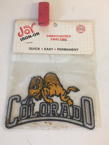 Vintage NOS 1990's University Of Colorado Buffaloes Iron-On Embroidered Emblems Patch